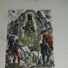 Arte: (M) XILOGRAFÍA COLOREADA Y FIRMADO POR ENRIC CRISTÒFOL RICART, VIRGEN DE MONTSERRAT. Lote 193799311