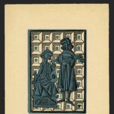 Arte: CELEDONIO PERELLÓN . XILOGRAFIA SEASON'S GREETINGS. 1960 . FIRMADO. Lote 195928513