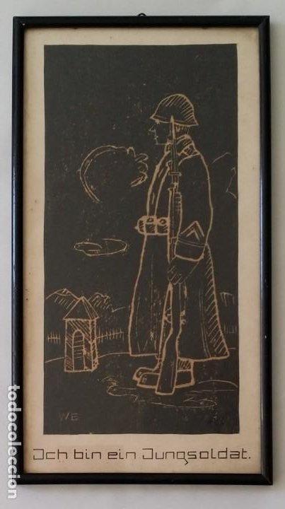 SOY UN SOLDADO JOVEN, 1ª GEURRA MUNDIAL / XILOGRAFÍA DE 1916 (Arte - Xilografía)