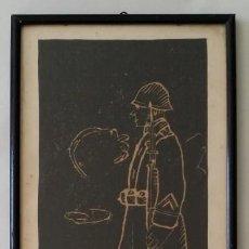 Arte: SOY UN SOLDADO JOVEN, 1ª GEURRA MUNDIAL / XILOGRAFÍA DE 1916. Lote 198532573