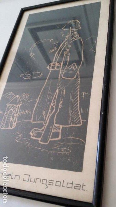 Arte: SOY UN SOLDADO JOVEN, 1ª geurra mundial / xilografía de 1916 - Foto 2 - 198532573