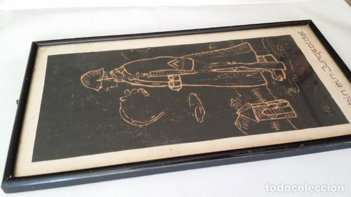 Arte: SOY UN SOLDADO JOVEN, 1ª geurra mundial / xilografía de 1916 - Foto 3 - 198532573