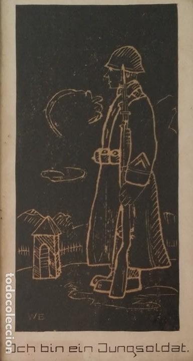 Arte: SOY UN SOLDADO JOVEN, 1ª geurra mundial / xilografía de 1916 - Foto 6 - 198532573