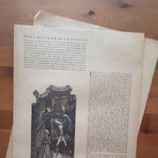 Arte: PLIEGUE PÁGINAS 121-124 CON CHILOGRAFÍAS DE ERNST DOMBROWSKI. Lote 198638058