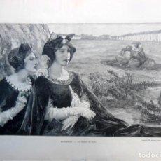 Arte: LA CALME DU SOIR. MAXENCE. 1903. Lote 198725667