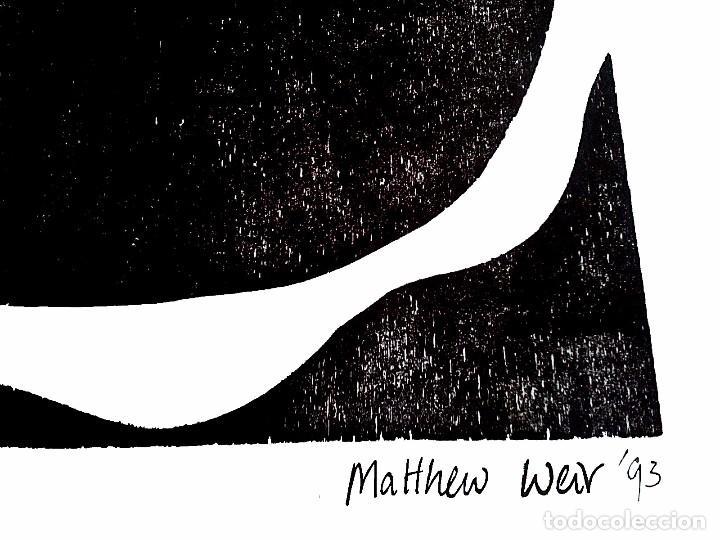 Arte: Xilografía de Matthew numerada y firmada - Foto 2 - 199705373