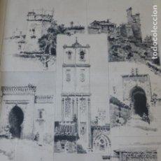 Arte: MALAGA VISTAS ARTISTICAS XILOGRAFIA 1885. Lote 200533650