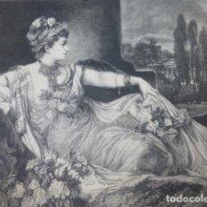 Arte: MESALINA XILOGRAFIA 1885. Lote 200553787