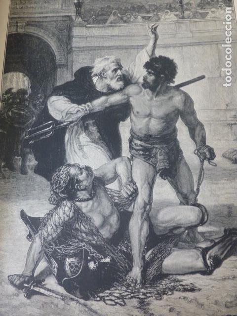 LOS ULTIMOS GLADIADORES XILOGRAFIA 1885 (Arte - Xilografía)