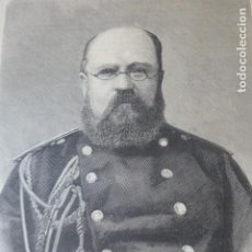 Arte: GENERAL ALEJANDRO KAMAROFF RUSIA XILOGRAFIA 1885. Lote 200568230
