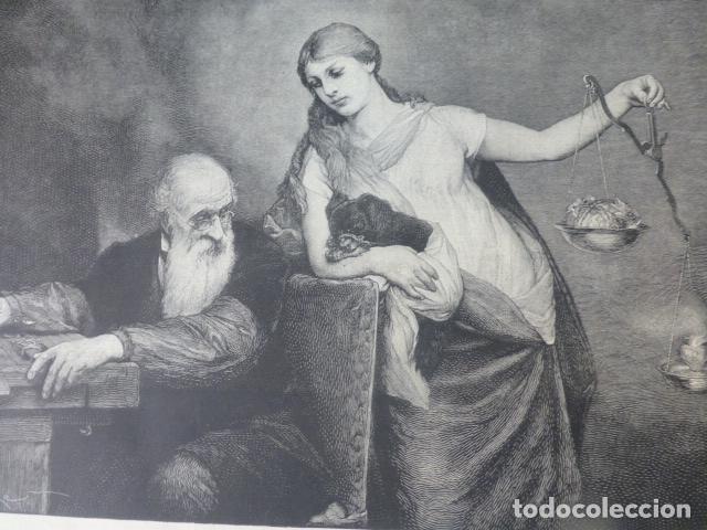 LA VIVISECCION XILOGRAFIA 1885 (Arte - Xilografía)