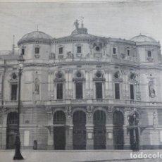 Arte: BILBAO TEATRO ARRIAGA XILOGRAFIA 1890. Lote 200737988