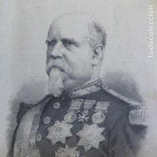Arte: MARCELO DE AZCARRAGA MINISTRO DE LA GUERRA XILOGRAFIA 1890. Lote 200739191
