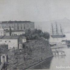 Arte: ISLA DE CORFÚ GRECIA VISTA XILOGRAFIA 1882. Lote 201286155