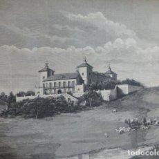 Arte: TORREJON DE ARDOZ ALCALA DE HENARES MADRID CASTILLO DE ALDOVEA XILOGRAFIA 1882. Lote 201293593