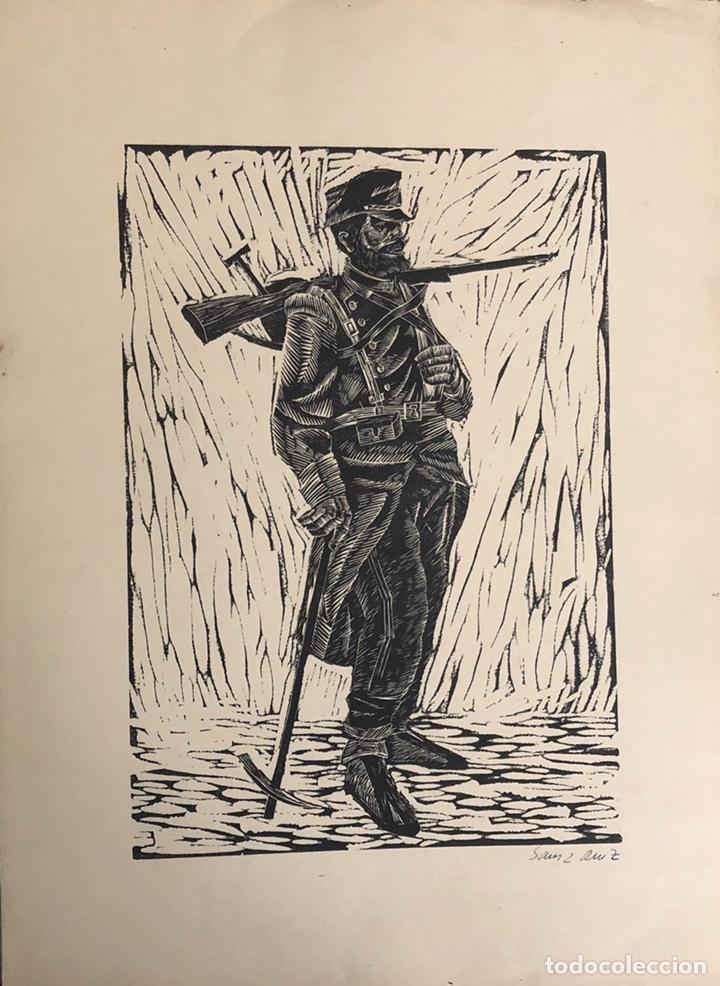 Arte: Doce xilografías militares,colección muy bonita. - Foto 2 - 202340948