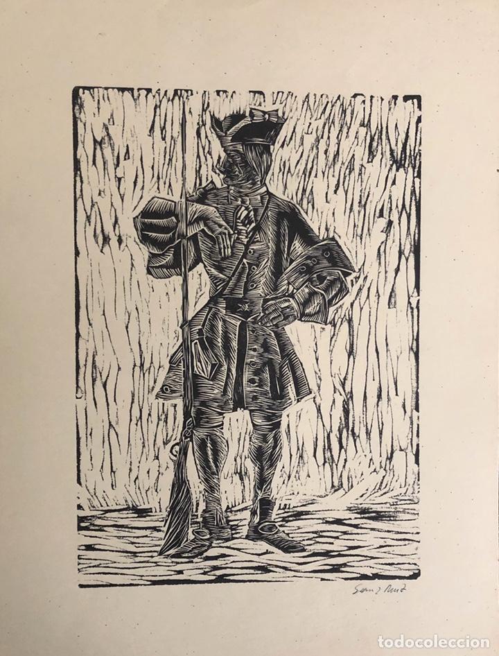 Arte: Doce xilografías militares,colección muy bonita. - Foto 5 - 202340948