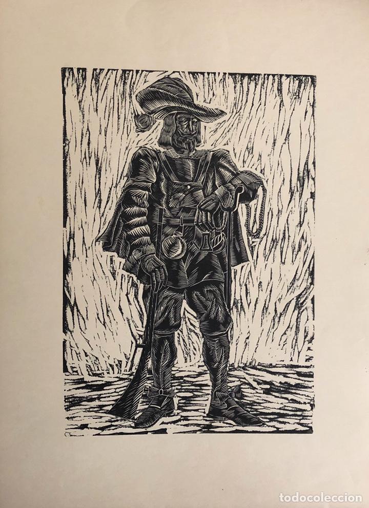 Arte: Doce xilografías militares,colección muy bonita. - Foto 10 - 202340948