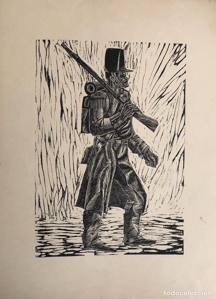 Arte: Doce xilografías militares,colección muy bonita. - Foto 12 - 202340948