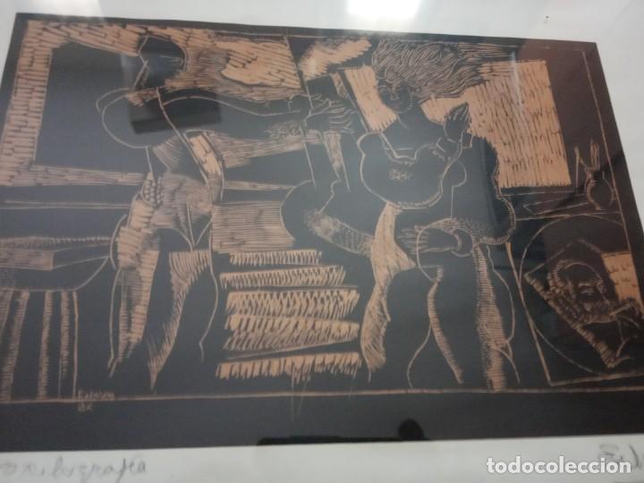 Arte: XILOGRAFIA 121/250 FIRMADA EN EL 88 - Foto 3 - 205438950
