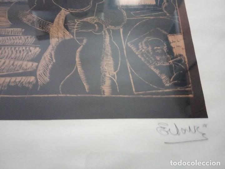 Arte: XILOGRAFIA 121/250 FIRMADA EN EL 88 - Foto 5 - 205438950