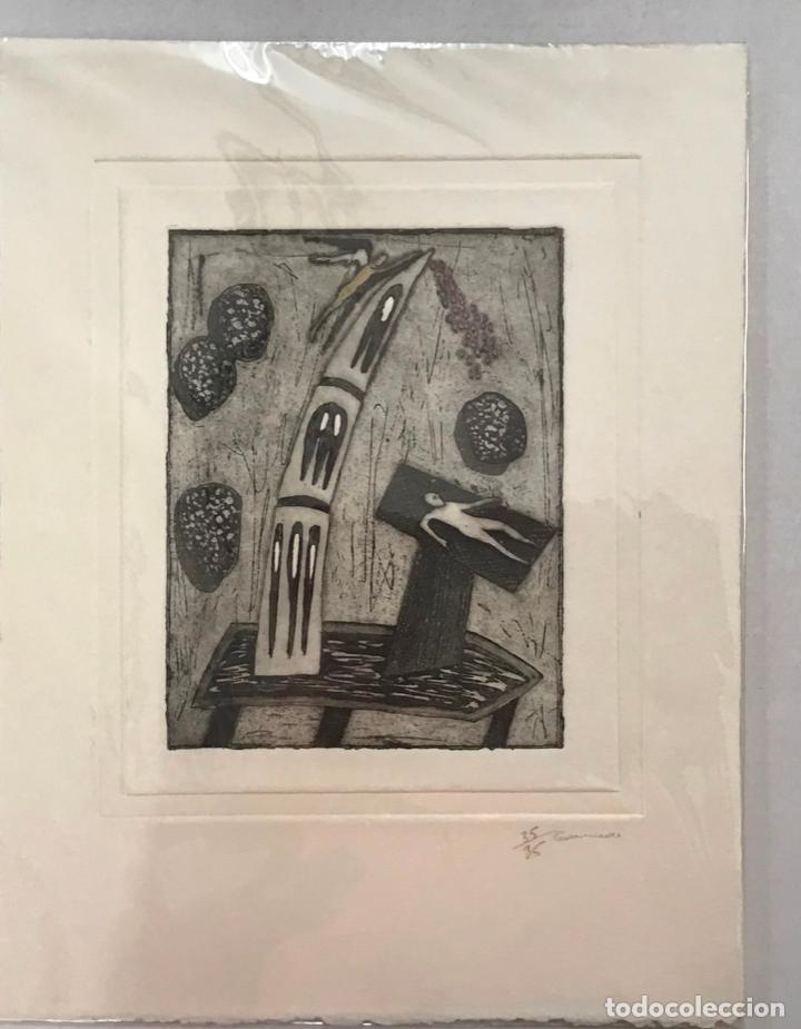 XILOGRAFÍA FIRMADA, GRANADOS. NUMERADA 35/35. 33 X 25 CM. (Arte - Xilografía)