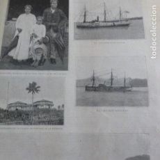 Arte: ISLAS CAROLINAS VARIAS VISTAS XILOGRAFIA 1890. Lote 206300160
