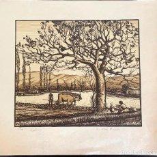Arte: ANTONI OLLÉ PINELL (1897-1981) LABOR. XILOGRAFÍA FIRMADA Y NUMERADA 15/25. Lote 206928822