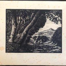 Arte: ANTONI OLLÉ PINELL (1897-1981) LABOR. XILOGRAFÍA FIRMADA Y NUMERADA 15/25. Lote 206929042