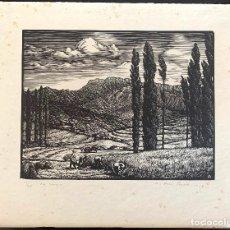 Arte: ANTONI OLLÉ PINELL (1897-1981) LA SEGA. XILOGRAFÍA FIRMADA Y NUMERADA 13/30. Lote 206980390