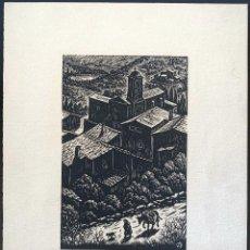 Arte: ANTONI OLLÉ PINELL (1897-1981) PUEBLO. XILOGRAFÍA FIRMADA. Lote 206981753