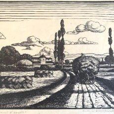 Arte: ANTONI OLLÉ PINELL (1897-1981) UN CAMINO D'URGELL. XILOGRAFÍA FIRMADA. Lote 207010658