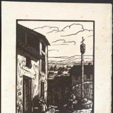 Arte: ANTONI OLLÉ PINELL (1897-1981) LA COSTERETA. XILOGRAFÍA FIRMADA. Lote 207011056