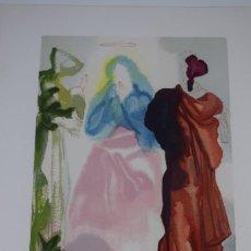 Arte: VIRGEN ORANDO A SAN BERNARDO ( PARAISO CANTO XXXIII). Lote 207581013