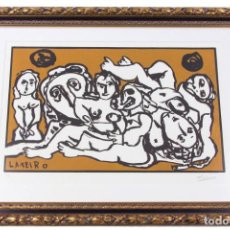 Arte: XILOGRAFÍA LAXEIRO. FIRMADA Y NUMERADA. Lote 208658813