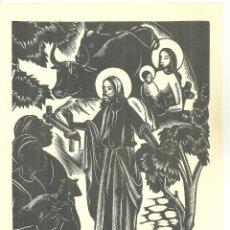 Arte: 4020.-XILOGRAFIA ANTONI GELABERT - NADALA DE ANTONI CLOSA ANY 1971 - TORRELL DE REUS. Lote 210668234