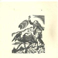 Arte: 4020.-XILOGRAFIA ANTONI GELABERT - NADALA DE ANTONI CLOSA ANY 1970 - TORRELL DE REUS. Lote 210668561