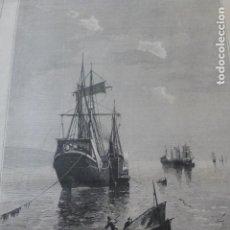 Arte: SANTANDER CANTABRIA EN LA BAHIA POR TOMAS CAMPUZANO ANTIGUA XILOGRAFIA 1881. Lote 212423443
