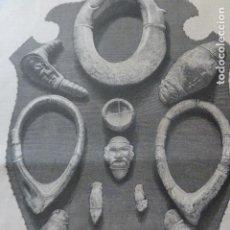 Arte: MADRID EXPOSICION DE OBJETOS AMERICANOS ANTIGUA XILOGRAFIA 1881. Lote 212425475