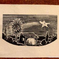Arte: 3 XILOGRAFÍAS DE ENRIC C. RICART NIN. BELENES/NACIMIENTOS. Lote 214086713