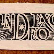 Arte: XILOGRAFÍA DE ENRIC C. RICART NIN CON LAS PALABRAS GLORIA IN EXCELSIS DEO. Lote 214180105