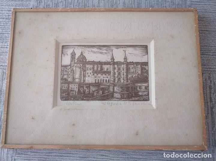 XILOGRAFÍA DE LA CIUDAD DE URBINO (ITALIA) - PIETRO SANCHINI (1915-2002) (Arte - Xilografía)