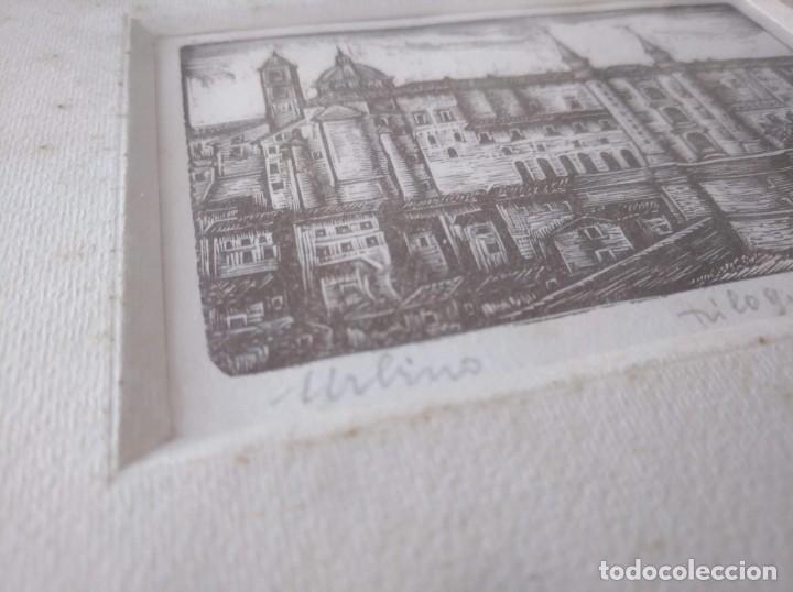 Arte: XILOGRAFÍA DE LA CIUDAD DE URBINO (ITALIA) - PIETRO SANCHINI (1915-2002) - Foto 4 - 214572481