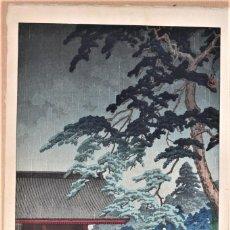 Arte: GRABADO A LA MADERA JAPONES DEL S, XIX AUTOR HASUI KAWASE MEDIDAS 36,3 X 24 CM. Lote 215301933