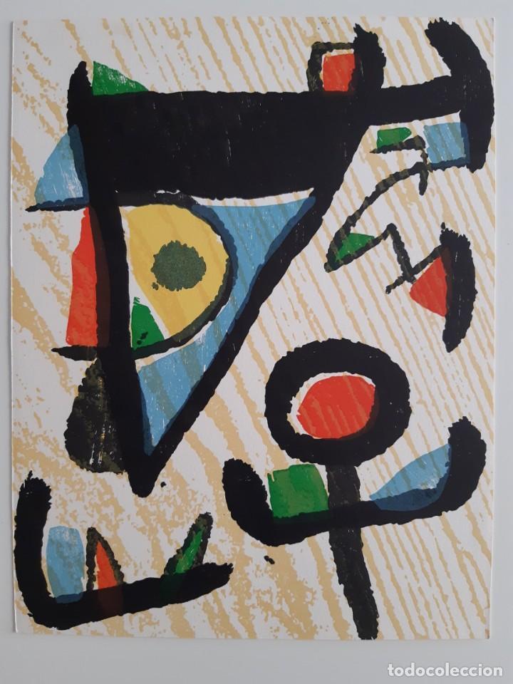Arte: Xilografía original Joan Miró - Foto 2 - 215846196