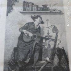 Arte: TUNO ESTUDIANTE TUNA ANTIGUA XILOGRAFIA 1881. Lote 218716540