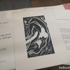 Arte: DE LAS 4 ESTACIONES 4 XILOGRAFÍAS VÍCTOR RAMÍREZ. Lote 220854575