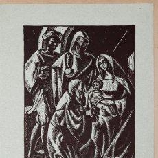 Arte: LINCK - LINOGRAFIA - LA ADORACION DE LOS REYES. Lote 221470937