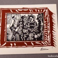 Arte: PICASSO - LINÓLEO - 1963 - SALA GASPAR. Lote 221565563
