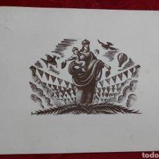 Arte: POSTAL XILOGRAFIA BOJES DE ENRIC CRISTOFOL RICART NIN. COLECCION J. BLANCH BOÉS. 1960. Lote 221835905
